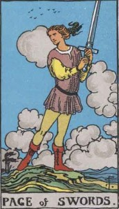 Page of Swords from the Rider-Waite deck