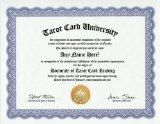 Tarot Card Reading Reader Degree: Custom Gag Diploma Doctorate Certificate (Funny Customized Joke Gift - Novelty Item)