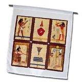 Ancient Egyptian Tarot Cards - 12 X 18 Inch Garden Flag