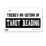 There's No Crying in Tarot Reading - Window Bumper Locker Sticker