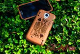 Poker | Natural Sapele Wood Case for Galaxy S4 (Classic Pattern) + Free Protector