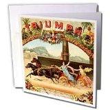 TNMPastPerfect Vintage Transportation - Vintage Racing Roman Chariots Artwork - Greeting Cards-6 Greeting Cards with envelopes